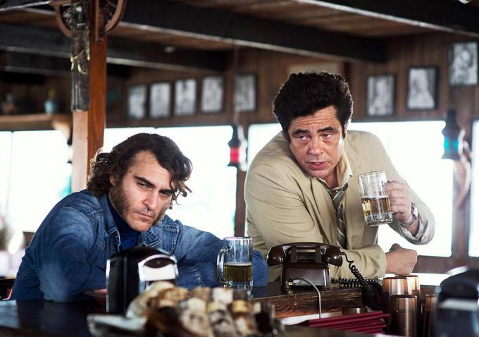 Joaquin Phoenix and Benecio Del Toro in Inherent Vice