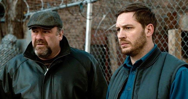 Tom Hardy And James Gandolfini in 'The Drop'